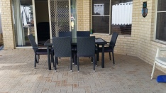 Salter Point Country House courtyard dining
